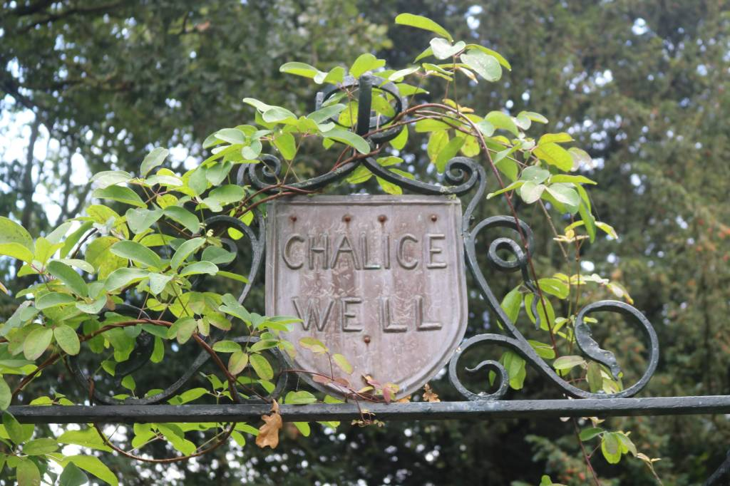Gate to the Chalice Well in Glastonbury, Somerset